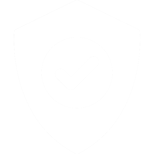 white illustrated shield